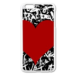 Red Valentine Apple Iphone 6 Plus/6s Plus Enamel White Case by Valentinaart