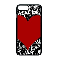 Red Valentine Apple Iphone 7 Plus Seamless Case (black) by Valentinaart