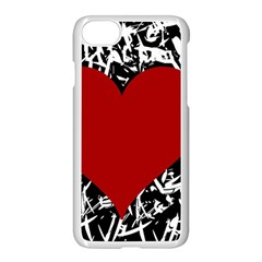 Red Valentine Apple Iphone 7 Seamless Case (white)