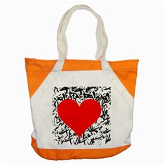 Red Valentine 2 Accent Tote Bag by Valentinaart