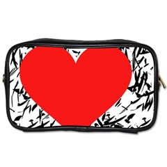 Red Valentine 2 Toiletries Bags by Valentinaart