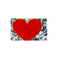 Red Valentine 2 Cosmetic Bag (xs) by Valentinaart