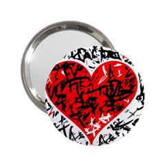Red Hart   Graffiti Style 2 25  Handbag Mirrors by Valentinaart