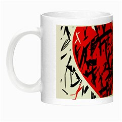 Red Hart   Graffiti Style Night Luminous Mugs by Valentinaart