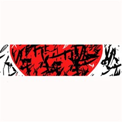 Red Hart   Graffiti Style Large Bar Mats by Valentinaart