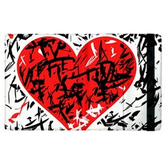Red Hart   Graffiti Style Apple Ipad 2 Flip Case by Valentinaart