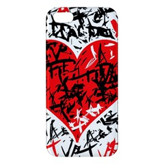 Red Hart   Graffiti Style Iphone 5s/ Se Premium Hardshell Case by Valentinaart