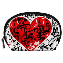 Red Hart - Graffiti Style Accessory Pouches (large)  by Valentinaart