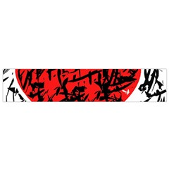Red Hart   Graffiti Style Flano Scarf (small) by Valentinaart