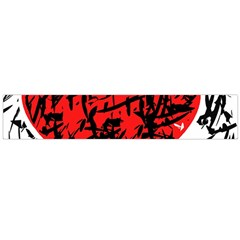 Red Hart   Graffiti Style Flano Scarf (large) by Valentinaart