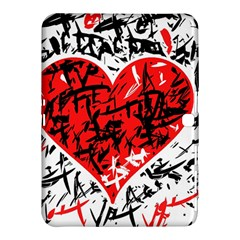 Red Hart   Graffiti Style Samsung Galaxy Tab 4 (10 1 ) Hardshell Case  by Valentinaart