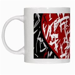 Red Graffiti Style Hart  White Mugs by Valentinaart