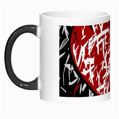Red Graffiti Style Hart  Morph Mugs by Valentinaart