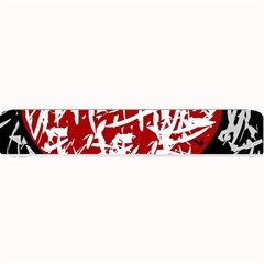 Red Graffiti Style Hart  Small Bar Mats by Valentinaart