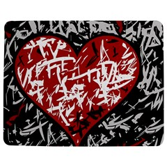Red Graffiti Style Hart  Jigsaw Puzzle Photo Stand (rectangular) by Valentinaart
