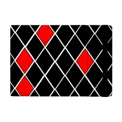 Elegant Black And White Red Diamonds Pattern Ipad Mini 2 Flip Cases by yoursparklingshop