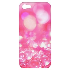 Cute Pink Transparent Diamond  Apple Iphone 5 Hardshell Case by Brittlevirginclothing