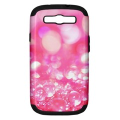 Cute Pink Transparent Diamond  Samsung Galaxy S Iii Hardshell Case (pc+silicone) by Brittlevirginclothing