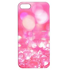Cute Pink Transparent Diamond  Apple Iphone 5 Hardshell Case With Stand by Brittlevirginclothing