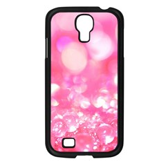 Cute Pink Transparent Diamond  Samsung Galaxy S4 I9500/ I9505 Case (black) by Brittlevirginclothing