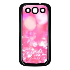 Cute Pink Transparent Diamond  Samsung Galaxy S3 Back Case (black) by Brittlevirginclothing