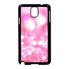 Cute Pink Transparent Diamond  Samsung Galaxy Note 3 Neo Hardshell Case (black) by Brittlevirginclothing