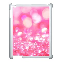 Cute Pink Glamour Diamonds Apple Ipad 3/4 Case (white) by Brittlevirginclothing
