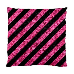 Stripes3 Black Marble & Pink Marble Standard Cushion Case (two Sides) by trendistuff