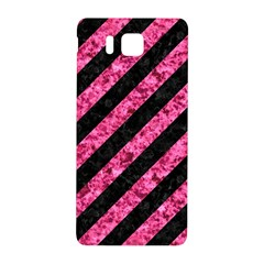 Stripes3 Black Marble & Pink Marble Samsung Galaxy Alpha Hardshell Back Case by trendistuff