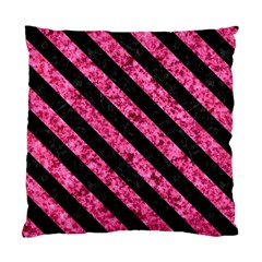 Stripes3 Black Marble & Pink Marble (r) Standard Cushion Case (one Side) by trendistuff