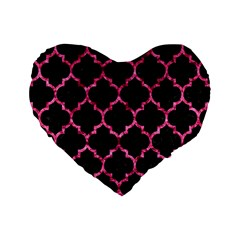 Tile1 Black Marble & Pink Marble Standard 16  Premium Heart Shape Cushion  by trendistuff