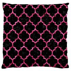 Tile1 Black Marble & Pink Marble Large Flano Cushion Case (one Side) by trendistuff