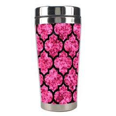 Tile1 Black Marble & Pink Marble (r) Stainless Steel Travel Tumbler by trendistuff