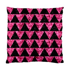 Triangle2 Black Marble & Pink Marble Standard Cushion Case (two Sides) by trendistuff