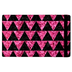 Triangle2 Black Marble & Pink Marble Apple Ipad 3/4 Flip Case by trendistuff