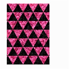 Triangle3 Black Marble & Pink Marble Large Garden Flag (two Sides) by trendistuff