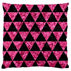 Triangle3 Black Marble & Pink Marble Standard Flano Cushion Case (two Sides) by trendistuff