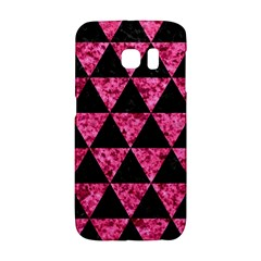 Triangle3 Black Marble & Pink Marble Samsung Galaxy S6 Edge Hardshell Case by trendistuff