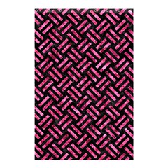 Woven2 Black Marble & Pink Marble Shower Curtain 48  X 72  (small) by trendistuff