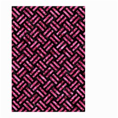 Woven2 Black Marble & Pink Marble Small Garden Flag (two Sides) by trendistuff
