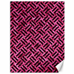 Woven2 Black Marble & Pink Marble (r) Canvas 36  X 48  by trendistuff