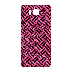 Woven2 Black Marble & Pink Marble (r) Samsung Galaxy Alpha Hardshell Back Case by trendistuff