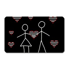 Couple In Love Magnet (rectangular) by Valentinaart