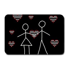 Couple In Love Plate Mats by Valentinaart