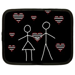 Couple In Love Netbook Case (large)