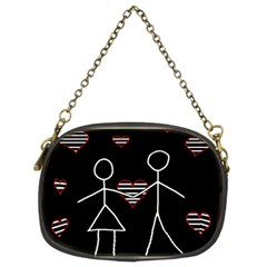 Couple In Love Chain Purses (two Sides)  by Valentinaart