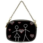 Couple in love Chain Purses (Two Sides)  Back