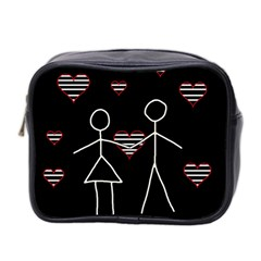 Couple In Love Mini Toiletries Bag 2 Side