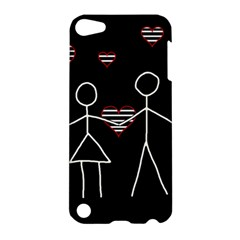 Couple In Love Apple Ipod Touch 5 Hardshell Case by Valentinaart