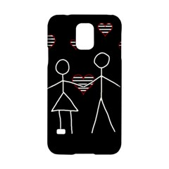 Couple In Love Samsung Galaxy S5 Hardshell Case  by Valentinaart